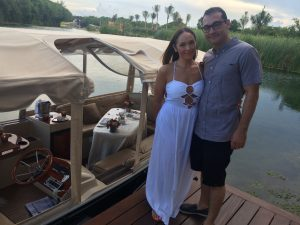 The Glossfox Romantic Honeymoon Boat Ride Dinner at Rosewood Mayakoba
