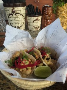 Shrimp Tacos from Punta Bonita at Rosewood Mayakoba