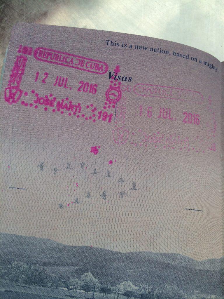 Cuba Passport Stamp