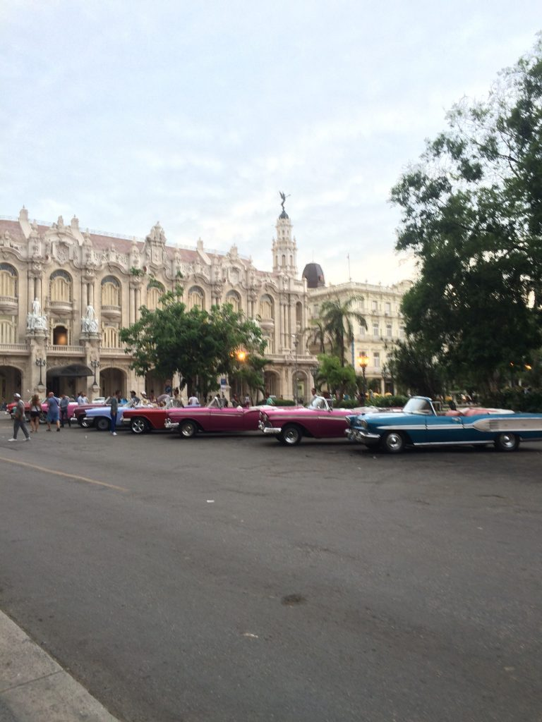 Vintage Cars in front of El Capitolio in Havana, Cuba