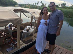 The Glossfox Romantic Honeymoon Boat Ride Dinner at Rosewood Mayakoba