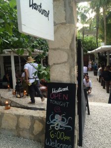 Entrance to Hartwood in Tulum