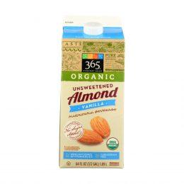 365 Organic Unsweetened Vanilla Almond Milk